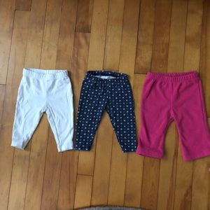 CLEARANCE Carter's 3 Pair Set Baby Girl Pants